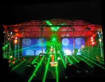 laser-lightingdeltagare arkivfoto