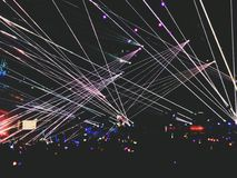 Laser-ljus royaltyfri bild