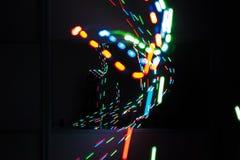 Laser-ljus ljus målning Royaltyfria Bilder