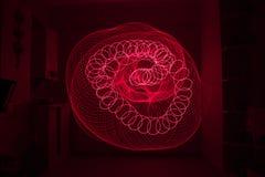 Laser-ljus ljus målning Fotografering för Bildbyråer