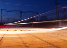 Laser with a long train. Royalty Free Stock Photography
