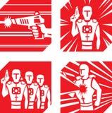 Laser märker symboler vektor illustrationer