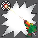Laser-Marken-Party-Einladung Lizenzfreies Stockbild