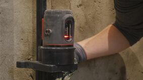 The laser measurement level for construction works.  stock video footage