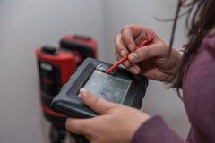 Laser-Messgerät - Messgerät 3D gebräuchlich Lizenzfreie Stockfotografie