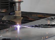 Laser metal cutting Stock Image
