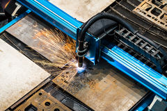 Laser metal sheet machine Stock Images