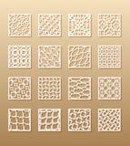 12 laser-modeller för rumväggar i den arabiska stilen Traditionell orientalisk prydnad i en rektangel för designen av a royaltyfri illustrationer