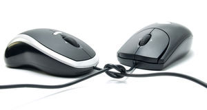 Laser mouse. For PC. High optical resolution Stock Photos