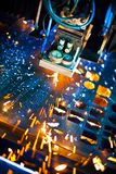 Laser-närbild Royaltyfri Bild