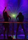 laser-nattklubbshow Arkivfoton