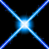 Laser Neon Blue Lights Royalty Free Stock Image