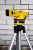 laser-nivåande Arkivfoto