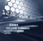 Laser par la carte de crédit Image libre de droits