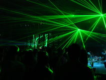 Laser-Party lizenzfreie stockbilder
