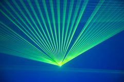 Laser party. Excelent green laser party at the club Royalty Free Stock Photos