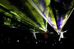 Laser-Party Stockfoto