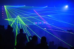 Laser party Stock Image