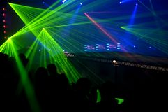 Laser party Royalty Free Stock Photography