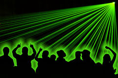 Laser-Party stockbilder