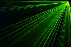 Laser party. Excelent green laser party at the club Royalty Free Stock Photography