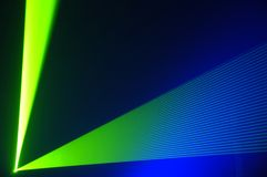 Laser party. Excelent green laser party at the club Royalty Free Stock Photo