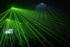 Laser party. Excelent laser party at the club Stock Image
