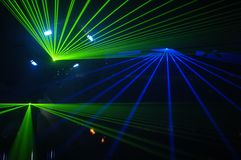 Laser party. Excelent laser party at the club Royalty Free Stock Photo
