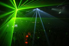 Laser party. Excelent laser party at the club Stock Photos