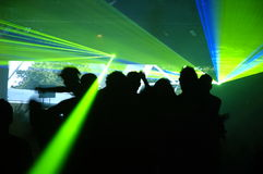 Laser party. Excelent laser party at the club Royalty Free Stock Photos