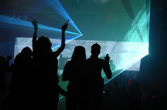 Laser party. Excelent laser party at the club Stock Photo