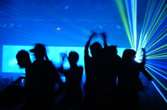 Laser party. Excellent laser party at the club Stock Photo