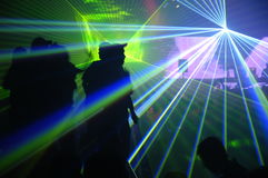 Laser party Stock Images