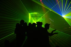 Laser party Royalty Free Stock Photos