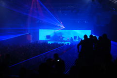 Laser party. Excelent laser party at the club Royalty Free Stock Images