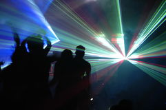 Laser party. Excelent laser party at the club Stock Images