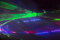 Laser party. The excellent laser party at the club Royalty Free Stock Photo