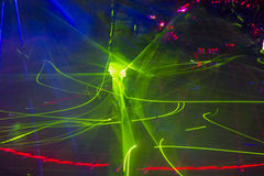 Laser party Stock Photo