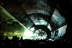 Laser-Partytunnel stockfoto
