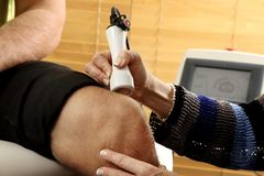 Laser physiotherapy Royalty Free Stock Photo