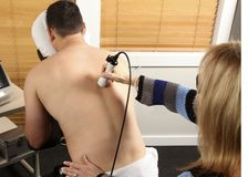 Laser physiotherapy Stock Image