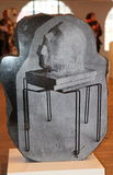 Laser picture on stone. Valerie Blass, a sculptor born in Montreal, likes to mis different textures to create strange and funny universes. At Parisian Laundry royalty free stock photos