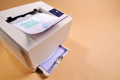 Laser Printer 1. Laser printer with peach background Stock Photography