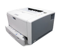 Laser printer. Isolated on white with clipping path Stock Photos