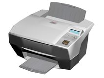 Laser printer. Illustration of a photo / laser printer isolated on a white background Stock Photo