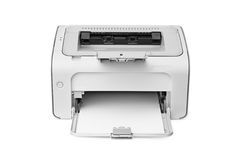 Laser printer. On a white background royalty free stock photo
