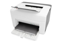 Laser Printer. With A4 paper stock photography