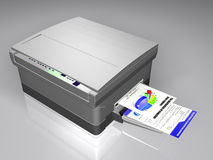 Laser printer. 3d render of laser printer (copier stock illustration