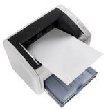 Laser printer. Officee equipment gray laser printer on white royalty free stock image