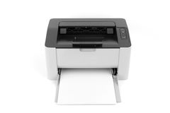 Laser printer isolated on white background Royalty Free Stock Photo